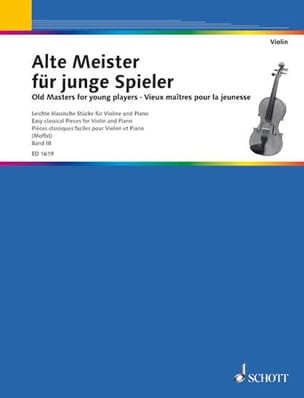 Moffat Alfred / Szende O. - Alte Meister für junge Spieler Bd 3 – Violone - Partition - di-arezzo.fr