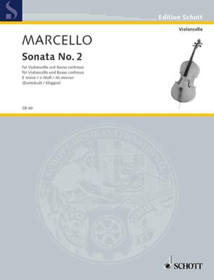 Benedetto Marcello - Sonate n° 2 en mi mineur - Partition - di-arezzo.fr