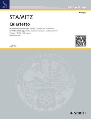 Carl Stamitz - Quartetto C-Dur –Altblockflöte 2 Violinen Cello - Partitur + Stimmen - Partition - di-arezzo.fr