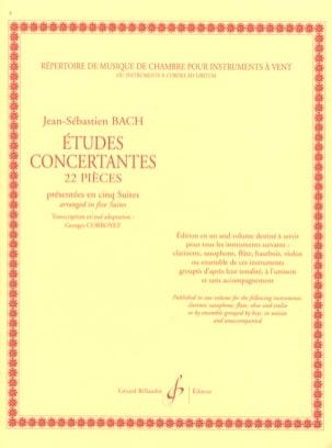 Bach Johann Sebastian / Corroyez Georges - Etudes concertantes - 22 Pièces - Partition - di-arezzo.fr