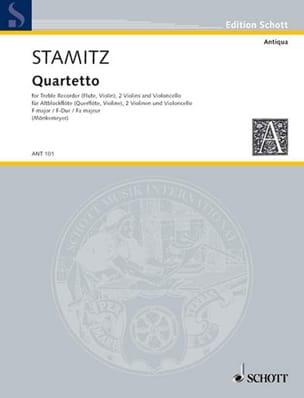 Carl Stamitz - Quartetto F-Dur -Altblockflöte 2 Violinen Cello - Partitur + Stimmen - Partition - di-arezzo.fr