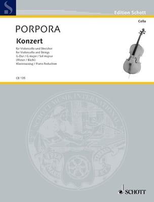 Nicola Antonio Porpora - Konzert G-Dur – Violoncello - Partition - di-arezzo.fr