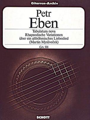 Tabulatura nova - Petr Eben - Partition - Guitare - laflutedepan.com