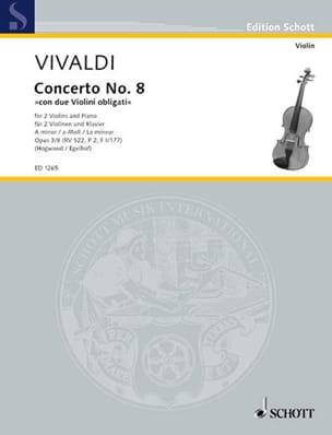 VIVALDI - Concerto a-moll op. 3 n° 8 -2 Violinen Klavier - Partition - di-arezzo.fr