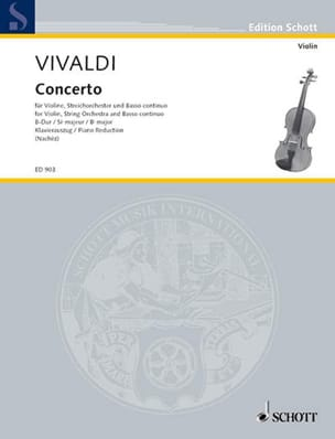Antonio Vivaldi - Concerto si bémol majeur - RV 379 - Partition - di-arezzo.fr