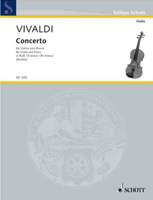 Antonio Vivaldi - Concerto en ré mineur - Partition - di-arezzo.fr