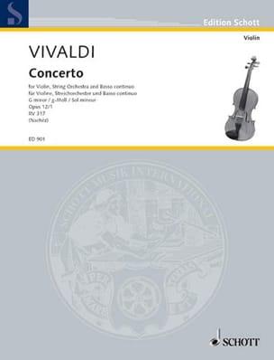 Antonio Vivaldi - Concerto Violon sol mineur op. 12 n° 1 - Partition - di-arezzo.fr