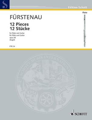 Kaspar Fürstenau - 12 Stücke – Flöte Gitarre - Partition - di-arezzo.fr