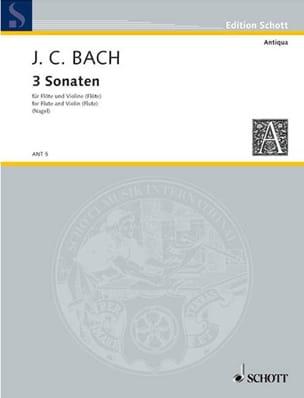 Johann Christian Bach - 3 Sonaten - FlötenヴァイオリンFlöten - 楽譜 - di-arezzo.jp