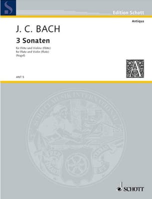 Johann Christian Bach - 3 Sonaten - Flöten Violine Flöten - Partition - di-arezzo.fr