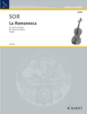 Fernando Sor - La Romanesca - Violon guitare - Partition - di-arezzo.fr