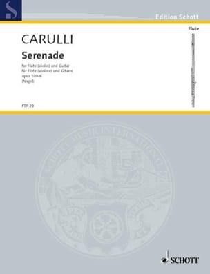 Ferdinando Carulli - Serenade – Flöte (Violine) Gitarre - Partition - di-arezzo.fr