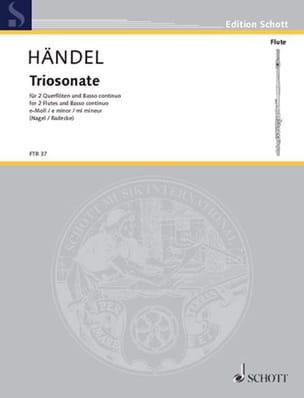 Georg Friedrich Haendel - Triosonate e-moll – 2 Flöten und Bc - Partition - di-arezzo.fr