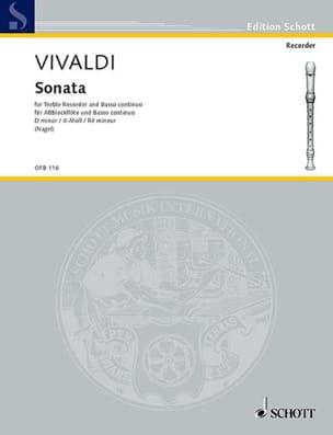Antonio Vivaldi - Sonate d-Moll –Altblockflöte u. Bc - Partition - di-arezzo.fr
