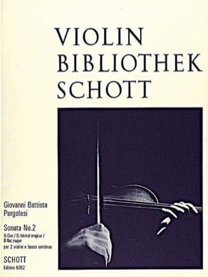 Giovanni Battista Pergolesi - Sonate Nr. 2 B-Dur –2 Violinen u. Bc - Partition - di-arezzo.fr