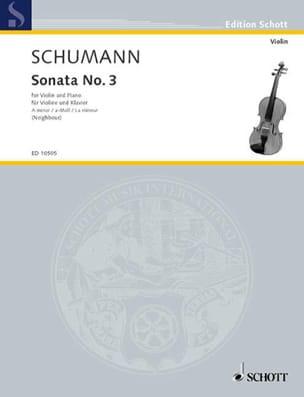 Robert Schumann - Sonata n° 3 a-Moll - Partition - di-arezzo.fr