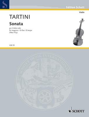 Giuseppe Tartini - Sonate en Ré Majeur - Partition - di-arezzo.fr
