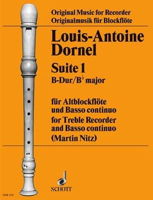 Suite 1 B-Dur - Altblockflöte u. Bc Louis-Antoine Dornel laflutedepan