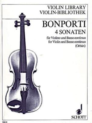 Francesco Antonio Bonporti - 4 Sonaten op. 12 - Partition - di-arezzo.fr
