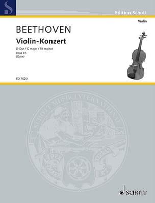 Violin-Konzert D-dur op. 61 Solo BEETHOVEN Partition laflutedepan