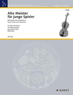 Johannes Palaschko - Alte Meister for junge Spieler - Viola - Sheet Music - di-arezzo.co.uk