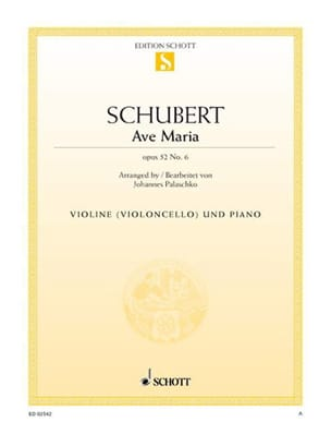 SCHUBERT - Ave Maria op. 52 n° 6 - Partition - di-arezzo.fr