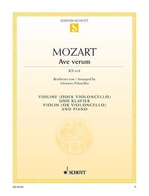 MOZART - Ave Verum KV 618 - Sheet Music - di-arezzo.co.uk