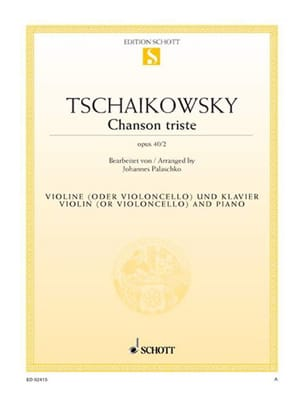 TCHAIKOVSKY - Sad song op. 40 n ° 2 - Sheet Music - di-arezzo.co.uk