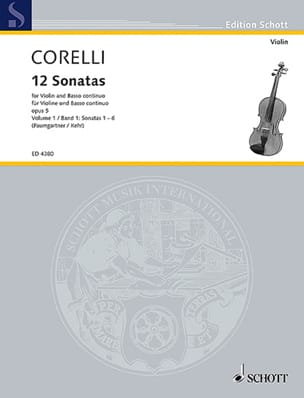 CORELLI - 12 Sonate op. 5, Volume 1 da 1 a 6 Paumgartner - Partitura - di-arezzo.it