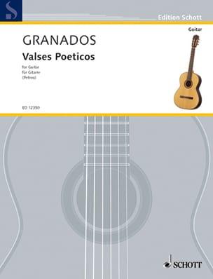 Valses poeticos Enrique Granados Partition Guitare - laflutedepan
