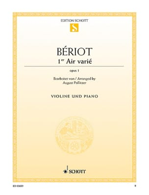 BÉRIOT - 1st Air varied op. 1 - Sheet Music - di-arezzo.co.uk