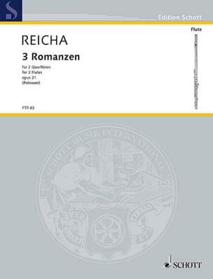 3 Romanzen op. 21 -2 Flöten Anton Reicha Partition laflutedepan