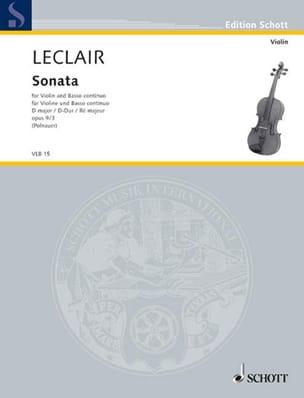 Jean-Marie Leclair - Sonata op. 9 n ° 3 D major - Sheet Music - di-arezzo.co.uk