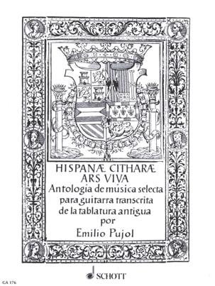 - Hispanae Citharae Ars Viva - Partition - di-arezzo.fr