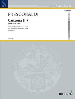 Girolamo Frescobaldi - Canzona 2 per Canto solo - Sopranbloflte Gitarre - Sheet Music - di-arezzo.com
