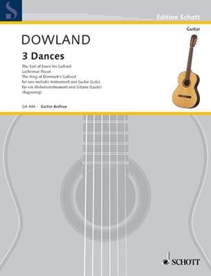 3 Tänze - Blockflöte Flöte Violine Gitarre Laute DOWLAND laflutedepan