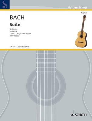 Suite E-Dur BWV 1006a -Gitarre - BACH - Partition - laflutedepan.com