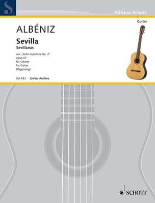 Suite española n° 3 : Sevilla Isaac Albeniz Partition laflutedepan