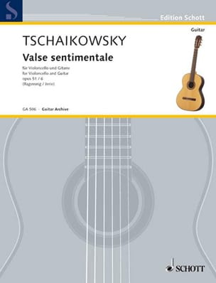 TCHAIKOVSKY - Valse sentimentale, op. 51 n° 6 - Cello guitare - Partition - di-arezzo.fr