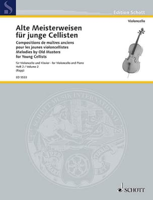 Eugen Rapp - Alte Meisterweisen für junge Cellisten Bd. 2 - Partition - di-arezzo.fr