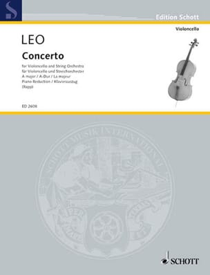 Konzert A-Dur - Violoncello - Leonardo Leo - laflutedepan.com
