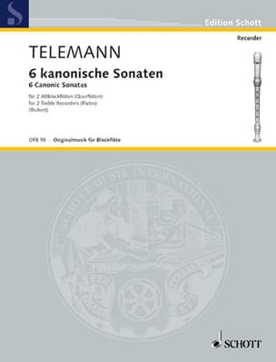 Georg Philipp Telemann - 6 Sonaten im Kanon - Partition - di-arezzo.fr