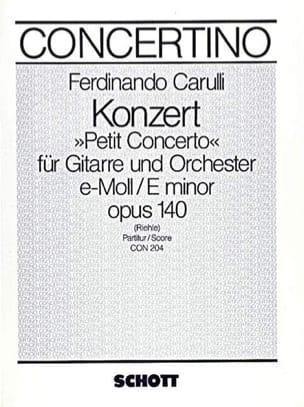Petit Concerto e-moll op. 140 - Gitarre Orchester - laflutedepan.com