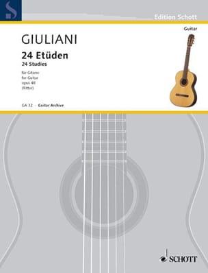Mauro Giuliani - 24 Etüden op. 48 - Sheet Music - di-arezzo.co.uk