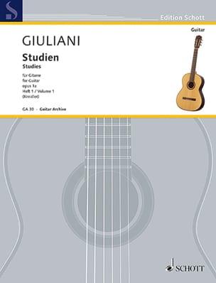 Mauro Giuliani - Etudes Opus 1A - Volume 1 - Partition - di-arezzo.fr