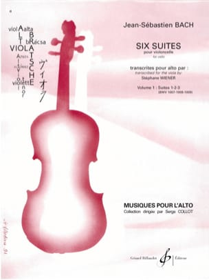 BACH - 6 Suites For Cello Vol 1 - Trascrizione per viola - Partitura - di-arezzo.it