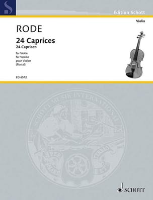 24 Caprices Rostal Pierre Rode Partition Violon - laflutedepan