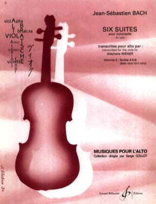 BACH - 6 Suite per violoncello trascritte per Alto Vol. 2 - Partitura - di-arezzo.it