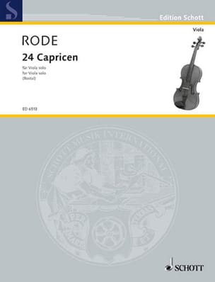 Pierre Rode - 24 Capricen - Viola Rostal - Sheet Music - di-arezzo.co.uk