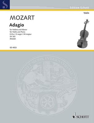 MOZART - Adagio E-Dur KV 261 - Partition - di-arezzo.fr